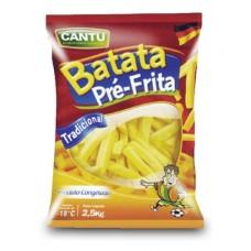BATATA PALITO  CANTU 2,5 KG-CX 4 PACOTE