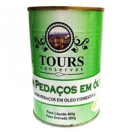 ATUM PEDACOS AO OLEO TOURS 400 GR  - CX 24
